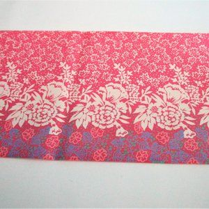 Pink and Floral Vintage Nylon Scarf